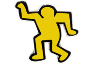 Keith Haring - Dancing Man Pin (Yellow)