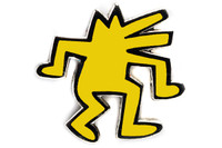 Keith Haring - Dancing Dog Pin (Yellow)