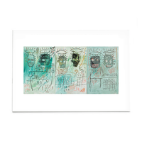 "Basquiat ""Six Crimee"" Post Card"
