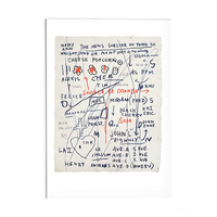 "Basquiat ""Untitled (Cheese Popcorn)"" Post Card"