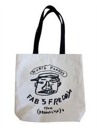 "Basquiat ""Fab 5 Freddy"" Canvas Tote Bag"
