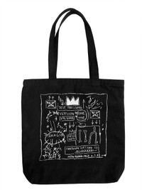 "Basquiat ""Beat Bop"" Canvas Tote Bag"
