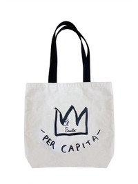 "Basquiat ""Per Capita"" Canvas Tote Bag"