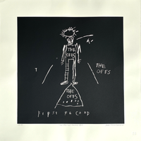 "Jean-Michel Basquiat, The Offs Album Cover Limited Edition Print 24"" x 24"""