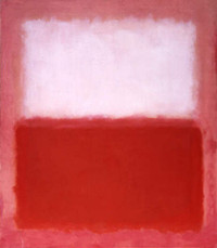 Mark Rothko, White Over Red Holiday Cards