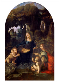 Leonardo da Vinci, Virgin of the Rocks Holiday Cards