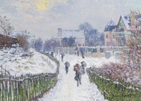 Claude Monet, Boulevard Saint-Denis, Argenteuil, in Winter Holiday Cards