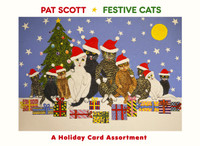 Pat Scott: Festive Cats Holiday Card Assortment Holiday Cards