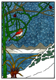 CJ Hurley: The Majesty of Winter Holiday Card Holiday Cards