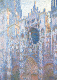 Claude Monet, Rouen Cathedral Wet Façade Holiday Cards