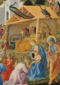 Fra Angelico and Fra Filippo-Lippi The Adoration of the Magi Holiday Cards