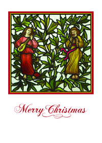 William Morris Two Minstrels Holiday Cards