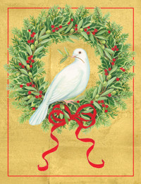 Dove With Wreath Holiday Cards