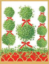 Topiaries Holiday Cards