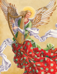 Angel With Harp Holiday Cards