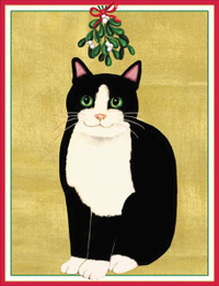Mistletoe Cat Holiday Cards