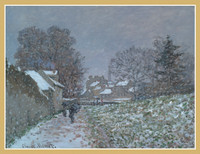 Claude Monet, Snow at Argenteuil Holiday Cards