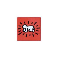 Keith Haring Magnet - Baby Red