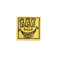 Keith Haring Magnet - Face Yellow