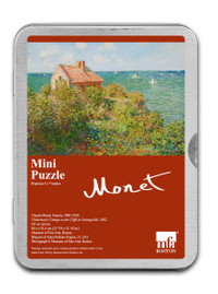 Monet, Fisherman's Cottage on the Cliffs Puzzle - 54 Pieces