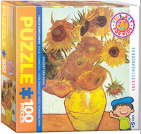 Van Gogh, Sunflowers 100 Piece Puzzle