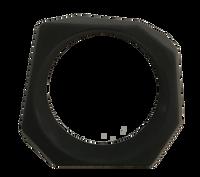 Angle Resin Black Matte Bangle Bracelet