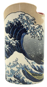 Hokusai, Great Wave Ceramic Flower Vase