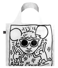 "Keith Haring ""Andy Mouse"" Packable Tote Bag"
