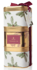 Frasier Fir Stackable Candles - Set of 3 Tins