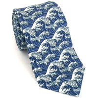 Hokusai Great Wave Necktie