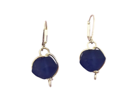 Matte Navy Nugget Earrings