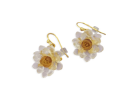 White Waterlily Drop Earring
