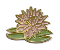 Monet Water Lily Enamel Pin