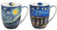 Van Gogh Starry Night Mug Pair