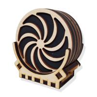 "3.5"" Pinwheel Coasters"