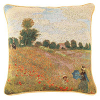 Monet Poppy Fields Pillowcase