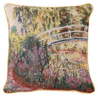 Monet Japanese Bridge Pillowcase