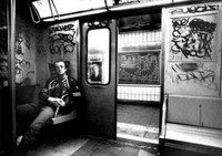 Haring Magnet - Keith in Subway Car