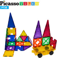 PicassoTiles: 26-pc Magnetic Tiles