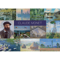 Claude Monet Sticker Postcard