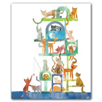 Kitty Cat Condo Notecard Box