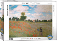 Monet, Poppy Field Puzzle - 1000 Pieces