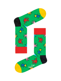 Keith Haring Dancing Green Socks- Medium