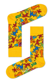 Keith Haring All Over Yellow Socks- Medium