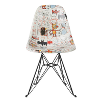 Modernica x Basquiat Fiberglass Side Shell Eiffel Chair - Bats
