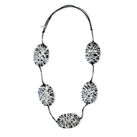 Black and White Felicity Necklace