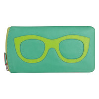Leather Eyeglass Case in Turquoise