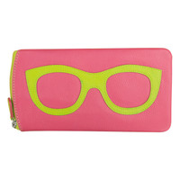 Leather Eyeglass Case in Pink