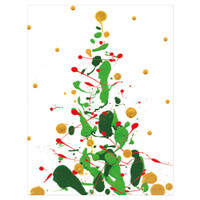 Splatter Tree with Foil Holiday Cards