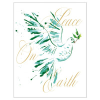 Peace Dove Foil Holiday Cards